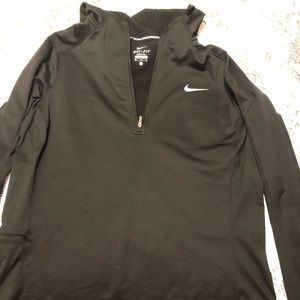 Nike half zip with hood EUC